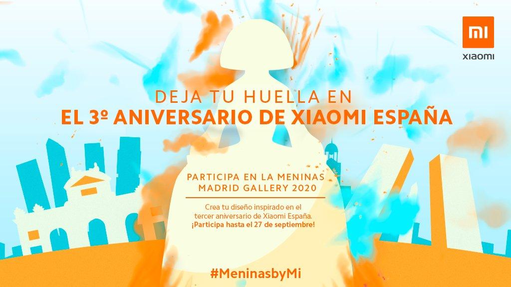 ¡Hola #MiFans!  ¿Queréis formar parte del tercer aniversario de Xiaomi en España? Si sois unos artistas, #MeninasByMi os interesa porque tenéis la oportunidad de plasmar lo que os inspiramos en una Menina 😱 Más información aquí https://t.co/wHaCuDHJoC https://t.co/MZpmBTEH2y