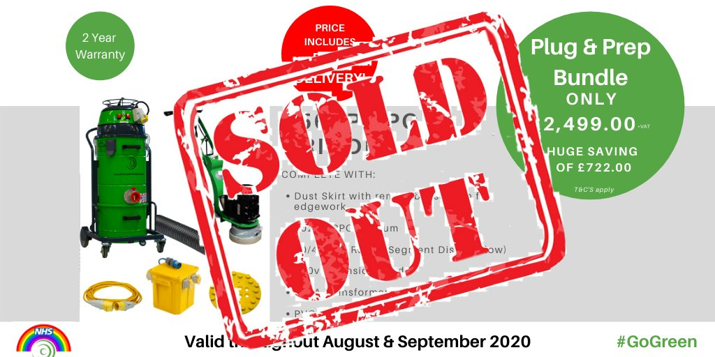 #TeamPPC have put together a #PlugAndPrep Bundle for our #250SP Grinder & #Vac + Accessories for only £2,499.00 +VAT during August & September 2020 ONLY! 👀 Call our sales team to order 📞 +44 (0)1522 561460 #PlugAndPrep https://t.co/qPIu3ez9wS