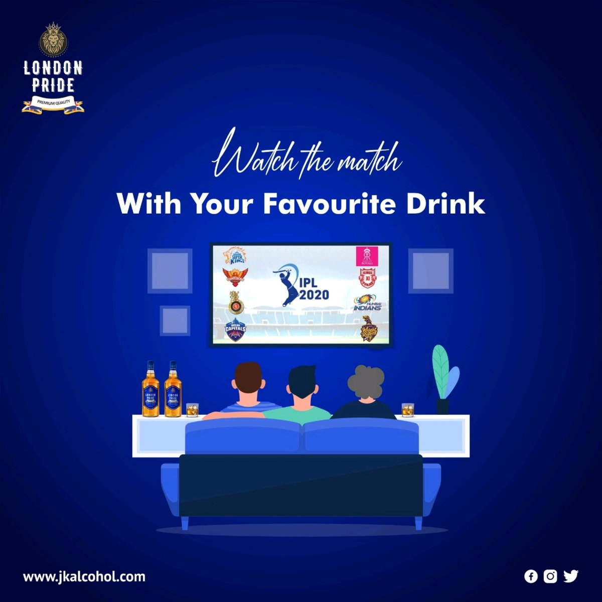 Take a seat with a glass of whisky as you watch the IPL 2020 and cheer for your favourite team! . #jkalcohol #Jkgroup #JkEnterprises #londonpride #Londonreserve #whisky #vodka #rum #premiumwhisky #indore #gwalior #Bhopal #jabalpur #madhyapradesh #drinks #harddrinks #drinking https://t.co/jqtDDMhNiM
