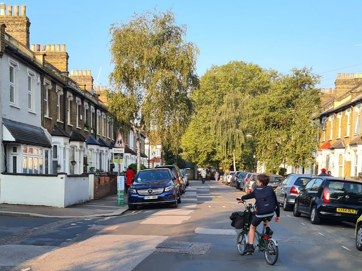 ...4 years later road to school has just been made a #schoolstreet.   My kids won't ever have to inhale diesel fumes on the way in ever again. Thank you @wfcouncil @Labourstone @WeSupportWFMH ! https://t.co/tsGZrdbSdV