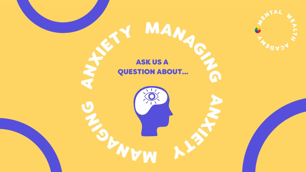 RT @OxfordshireMind: 🙋 This week @MWAcademy_ are asking you to send in your questions on the topic of #managinganxiety.  Leave them a question on this thread. 👇🏿⁠  Q&A will be shared via Instagram Stories on Wednesday 23rd September.   #Mentalhealth #Oxon #MWA #Oxfordshire