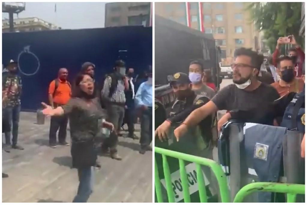 """""""¿Dónde estaban cuando desaparecieron a los 43 de Ayotzinapa?"""": Mexicanos retan y encaran a derechistas del FRENAA (+ #Videos) https://t.co/eE7dQEuQNw https://t.co/cvSaYYSVAh"""
