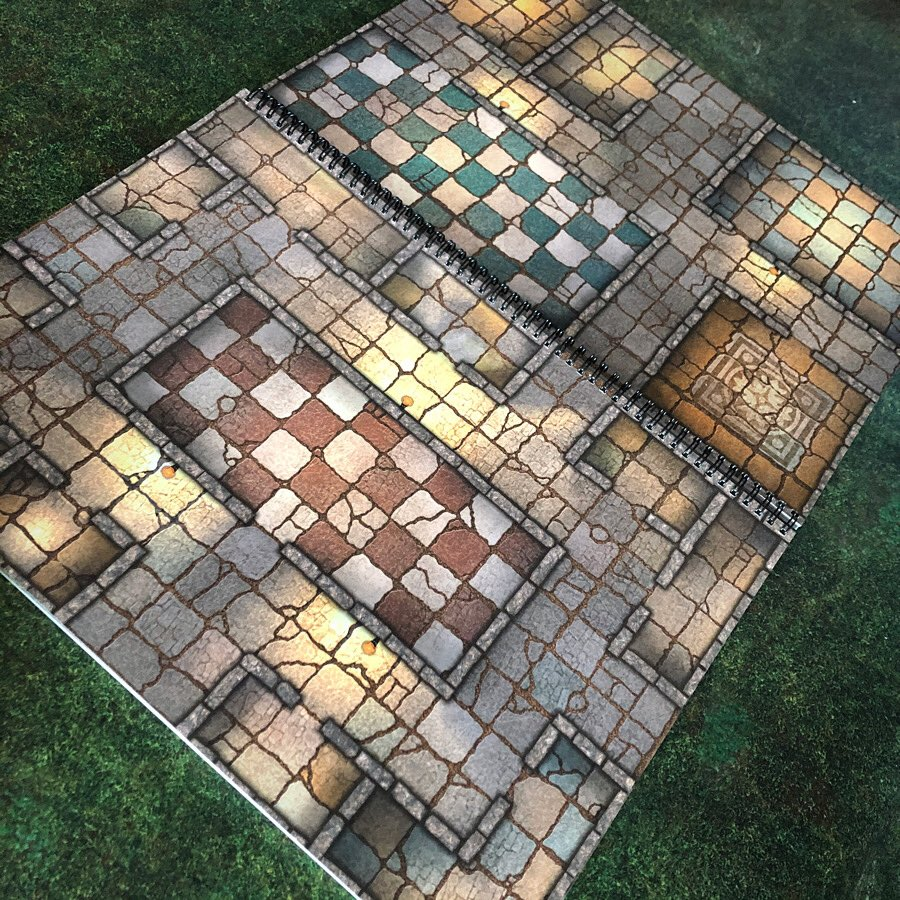 Now even more maps for any encounter at your fingertips! The Giant Book of Battle Mats Volume 2 is available from October 1! Preorder now from your FLGS or favourite online retailer or https://t.co/5OyTDGMoGL #dnd #rpg #dungeonsanddragons #trrpg #battlemap #lokebattlemats https://t.co/d778AghLag