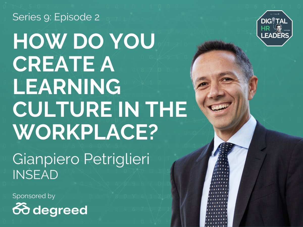 How Do You Create a Learning Culture in the Workplace?   @david_green_uk is joined by #Learning & #Leadership expert @gpetriglieri in this episode of the Digital HR Leaders podcast!   https://t.co/1aR8kG4GNc https://t.co/i7WrM6ZTEt