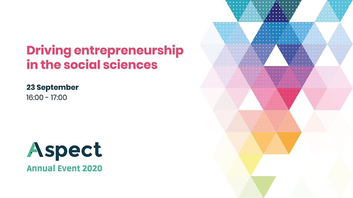 It's not too late to register for tomorrow's #AspectAnnualEvent session on 'Driving entrepreneurship in the #socialsciences' (4pm) - led by @OfficialUoM & @EntrepMCR, this webinar will discuss best practice in driving entrepreneurship. Register now: https://t.co/do4F6E6SB5 https://t.co/bpRdhO1n4g