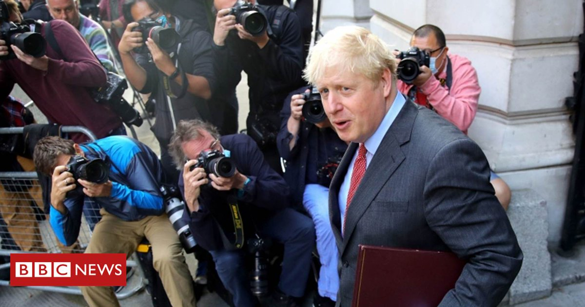 Prime Minister Boris Johnson is heading to the House of Commons to set out new coronavirus restrictions to MPs, before addressing the nation later this evening   Follow live here: https://t.co/xjHtpq7CHW https://t.co/hK8pXQgF3r