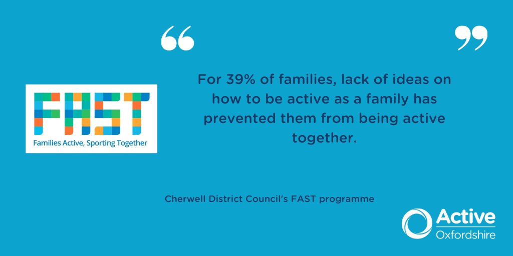 We're very proud to be able to support @Cherwellcouncil FAST Programme, at a time when staying physically active is critically important for our Oxfordshire community. Read all about it here ⏬ https://t.co/KXyUZUP758 #FightingInactivity #BeActive