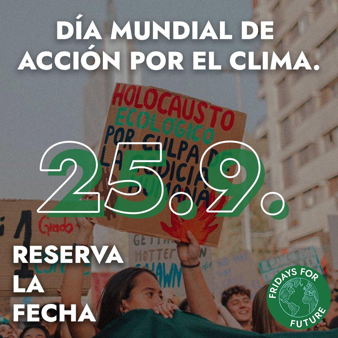 Llamamiento para un día de acción global el 25 de septiembre, de cualquier manera que sea seguro para usted y su comunidad! #FridaysForFuture #FightClimateInjustice https://t.co/m083x6gSa2 #FridaysForFuture  #FightClimateInjustice.  ¡Necesitamos una acción climática ahora! https://t.co/C7xRA95MPE