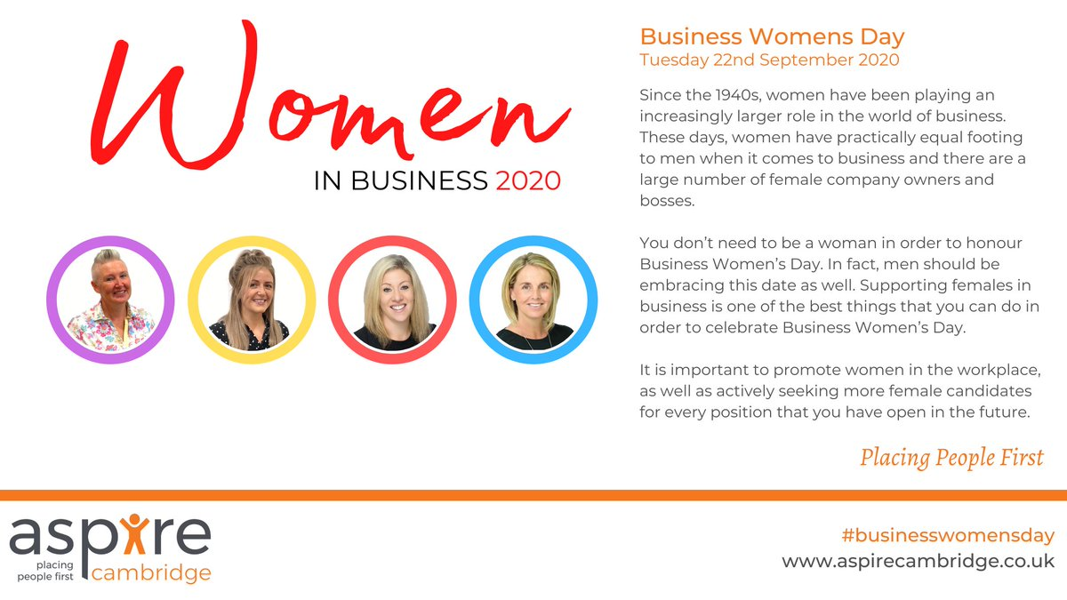 It's National #BusinessWomensDay and we'd like to pay special attention to our team of talented women >> https://t.co/0QmiEhsth8  Also #WomeninSTEM. We need more women in #STEM not only for social and moral reasons as well as to fill the surplus of jobs.  #placingwomenfirst https://t.co/TIyEvCTx5u