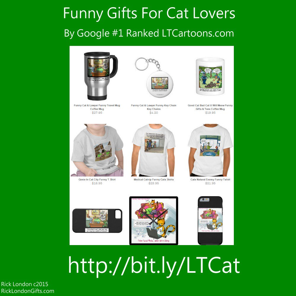 #Sale! @LTCartoons #Giftshop @zazzle offers #exclusive @LTCartoons #Unforgettable #valuable & very #funny #gifts at big #discounts and daily #deals See #discountcode on product pages #holidays #humor #cat #cats https://t.co/AqeKZgkuda #worldwideshipping #freepersonalization https://t.co/TLTKk4WFGI