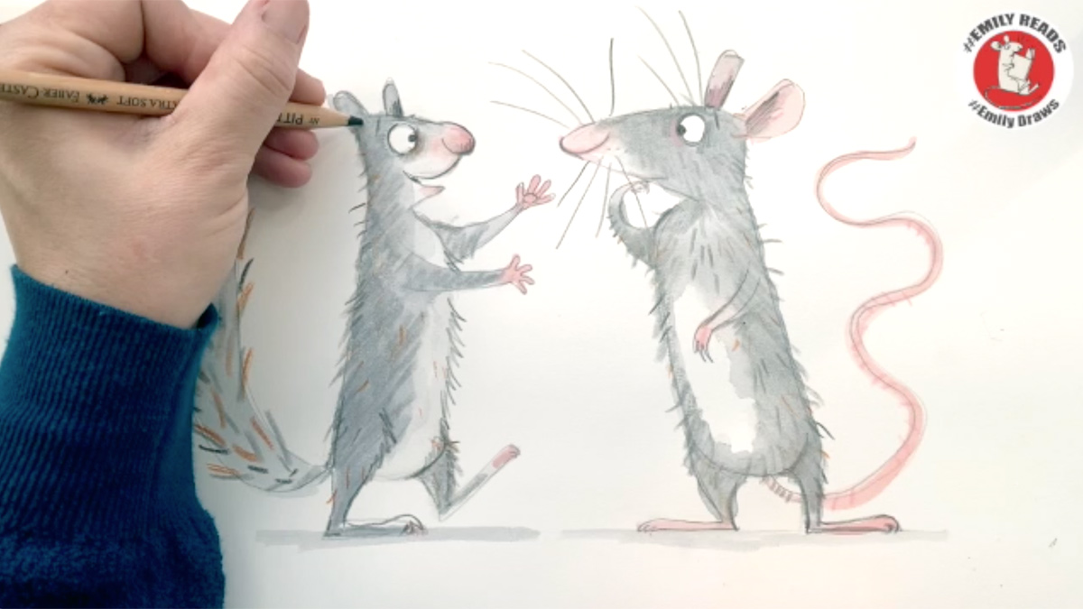 Time for a break to do some drawing, we reckon! Today over on #BookTrustHomeTime the wonderful Emily Gravett is teaching us how to draw her lovely characters Cyril and Pat!  Watch along and have a go here: https://t.co/uoYIy4fucr https://t.co/FjWkTPdKSG