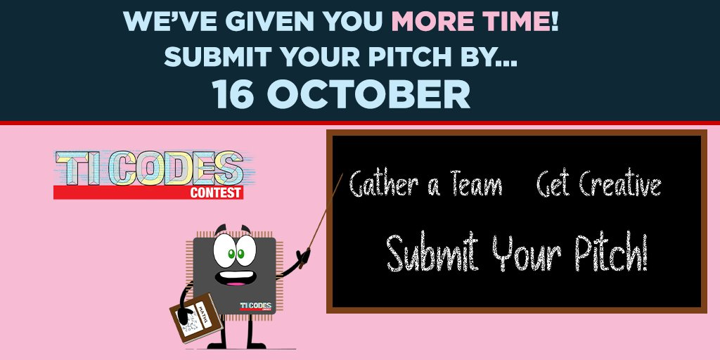 + time to PITCH your ideas! YAY! We've extended the pitch deadline to 16 Oct @ 3pm!  So get creative + come up with a winning innovation!  Your solution around #food could WIN great prizes!   https://t.co/LmV8nrF43d #STEM https://t.co/iU4G45BveR