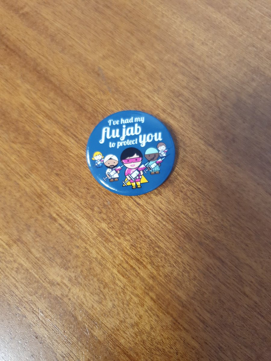 I #GotMyJab today courtesy of @donchelwest to help protect me, my family and my patients!  I urge everyone @WestMidHospital to get yours too! Doestnt hurt and you get a free treat too :) #proud #flufighter https://t.co/cRNLkk8TQ1
