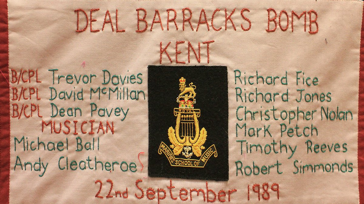 SEFF remembers the 11 innocents murdered in the Deal Barracks bombing in Kent, 31 yrs ago 22/9/89, by PIRA. It was carried out on the School of Music building of Royal Marine Depot, Deal, England at 8:22 am.  The building collapsed, killing 11 marines from the Royal Marines... https://t.co/C2Ewma9S9f