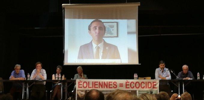 L'excellentissime Julien Aubert était présent par vidéo à la grande manifestation antiéoliennes de l'@Indre36  du 18/09 à Déols