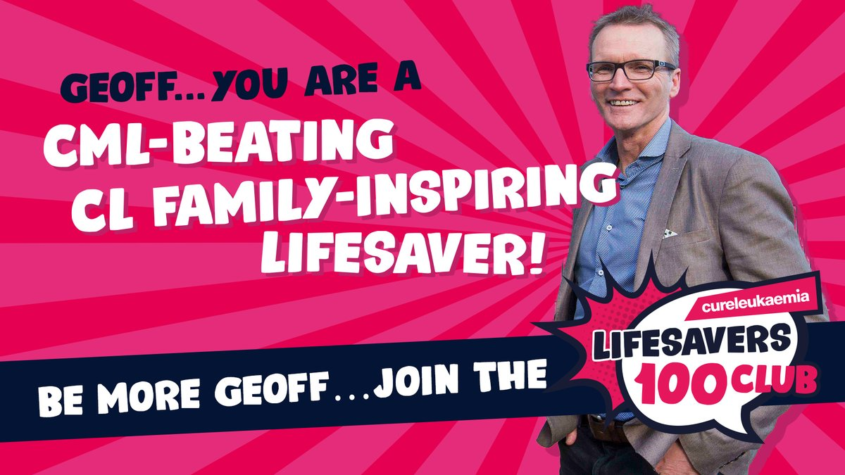 🙌 LIFESAVERS 🙌  On #WorldCMLDay, we welcome @GeoffThomasGTF into the #CLLifesavers100Club. Inspirational for beating #CML. Instrumental in helping @CureLeukaemia make a difference for others suffering from #BloodCancer.  You are a Lifesaver🥇  #CLFamily #BCAM #WeWillFindACure https://t.co/7JmAs2VJus