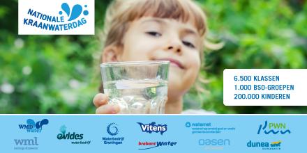 De Nederlandse drinkwaterbedrijven wensen alle 200.000 leerlingen van basisscholen en bso's morgen veel plezier met kraanwaterles. Want morgen vieren we Nationale Kraanwaterdag!!   Check 👉https://t.co/ex5aCI3hDN 😀💦 #kraanwaterdag #succes #basisschool #bso