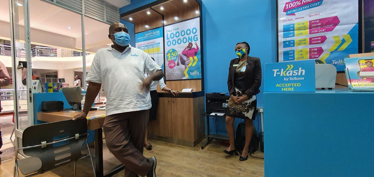 At the @TelkomKenya T-Mall shop. From here I head to the Galleria Mall shop. As always, I'd like to hear from you on the service expections. See me, ask for data! https://t.co/sGl1WvTkMQ