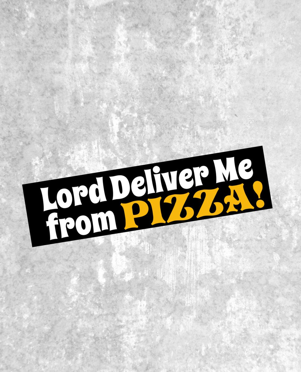 Lord Deliver Me From Pizza! https://t.co/JxKDbLodMs #Etsy #truebluedesignco #Jesus https://t.co/Z6mAPehRso