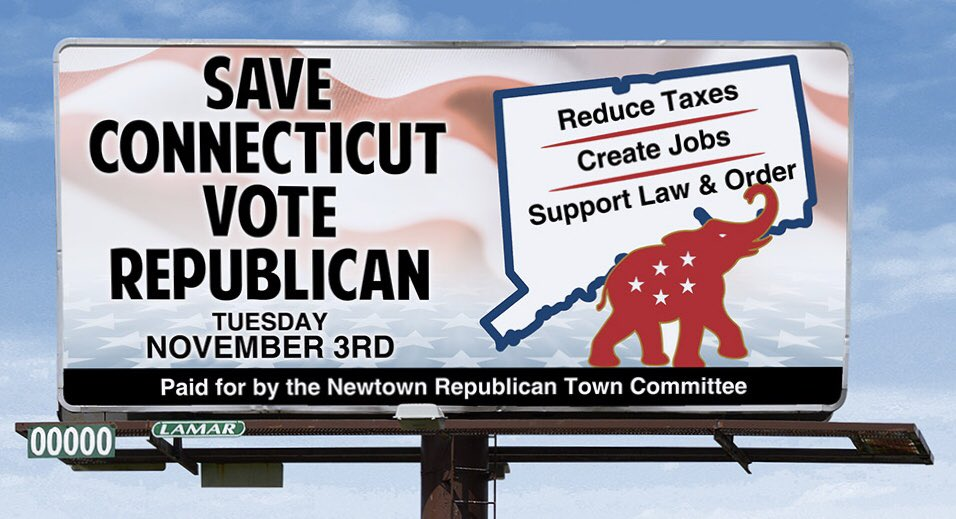 Great message Newtown Republican Town Committee!  #ReduceTaxes #CreateJobs #SupportLawAndOrder #SaveConnecticutVoteRepublican #November3rd https://t.co/xt1xBZnnFK