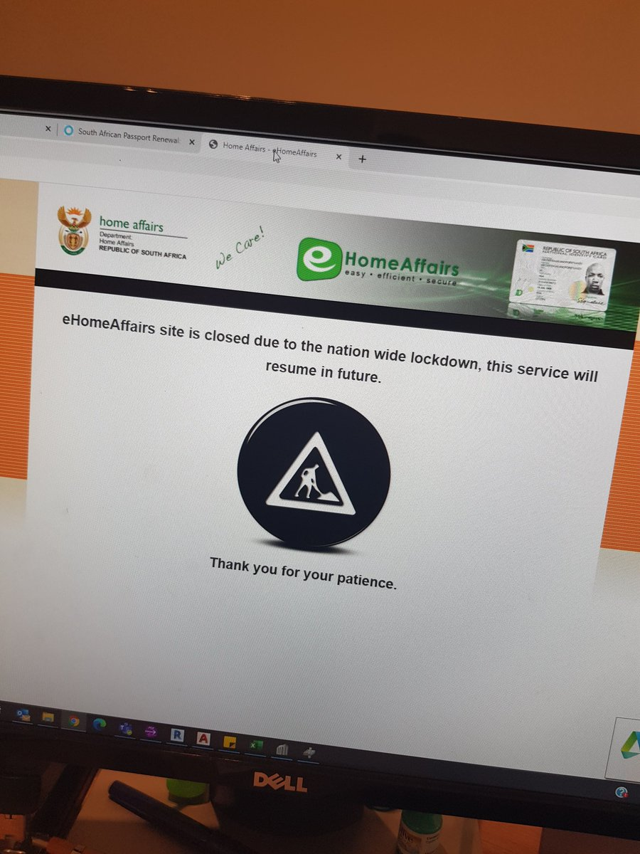 Why is eHomeAffairs still closed? We are on level 1 of lockdown and even the real Home Affairs is open? There is no excuse for this! Welcome to South Africa. #homeaffairs https://t.co/rZoXhpDsFn