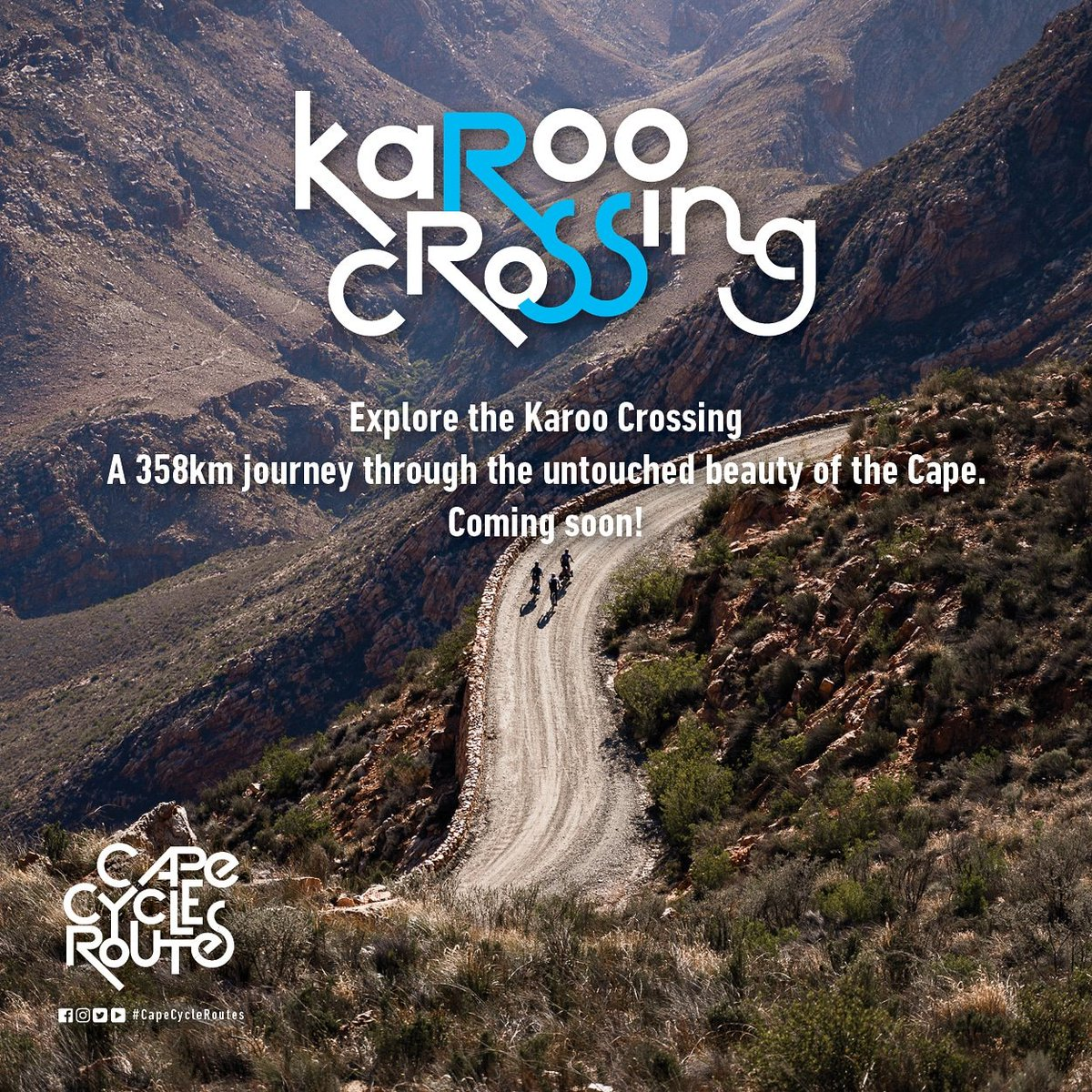 The new addition to the Cape Cycle Routes network.  The #KarooCrossing is a 358km journey through some of the most beautiful and historic landscapes in the Cape!  #CapeCycleRoutes #bikepacking #bikeadventure https://t.co/p7t7rpQ9Ic