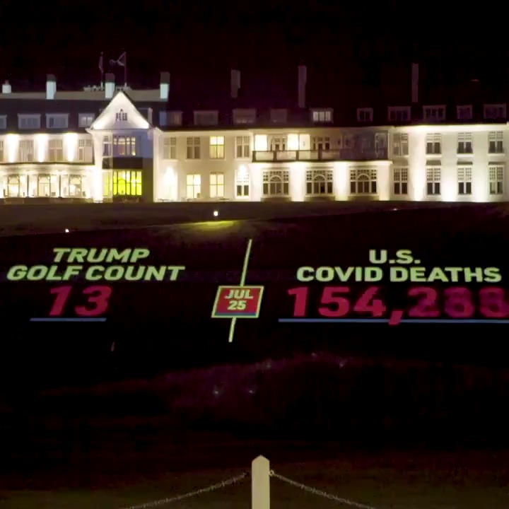 #TrumpPlaysGolf a *lot* (Location: Trump Turnberry golf course)