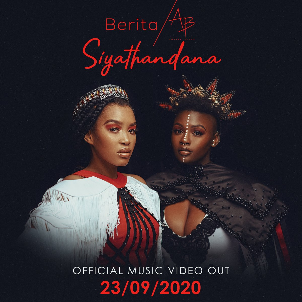 Were SO EXCITED! @BeritaAfroSoul and @AmandaBlackSA are dropping the official video for #Siyathandana, weve had a sneak peek and its beautiful 😍