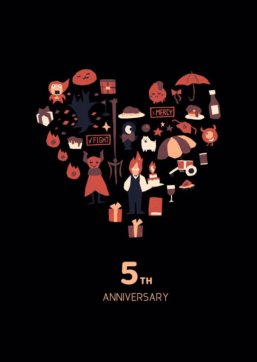 RT @88_akura: UNDERTALE5周年おめでとうございました!! #Undertale五周年記念イラスト #happybirthdayundertale...