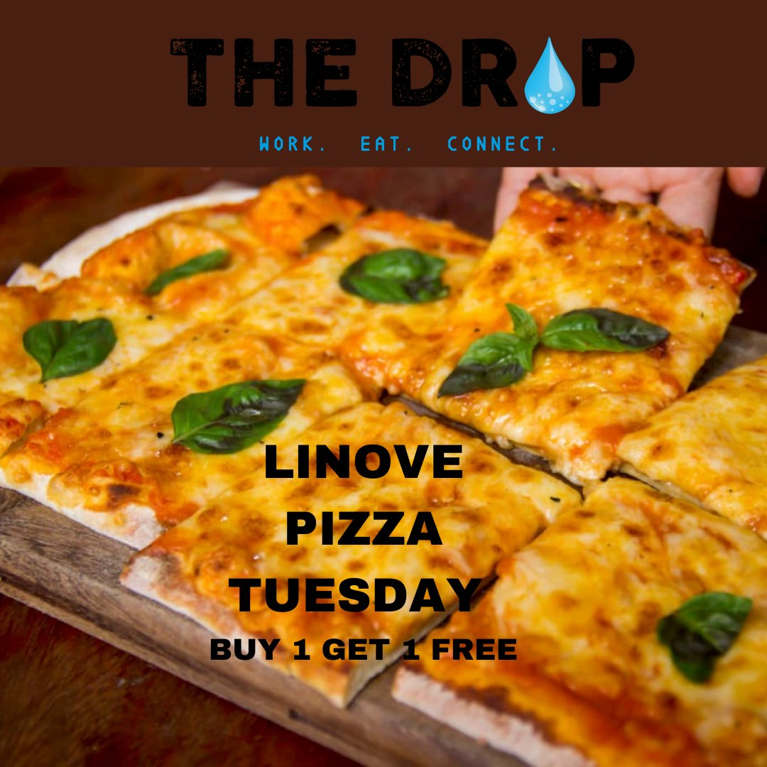 Tuesday's are for Pizza 🍕. Get 2🍕🍕 for the price of 1🍕.             #TheDrop #pizzatuesday #linove #margaritapizza #pizzapollo #pizzatime #freewater #purifaaya https://t.co/4p3QWrez0m