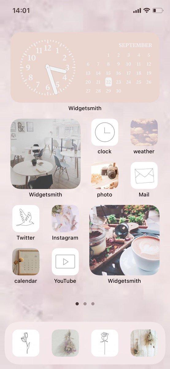 RT @K_602489: このような【ホーム画面を作る方法】載せていきます↓↓↓  アプリ2つでできます!😳  ...