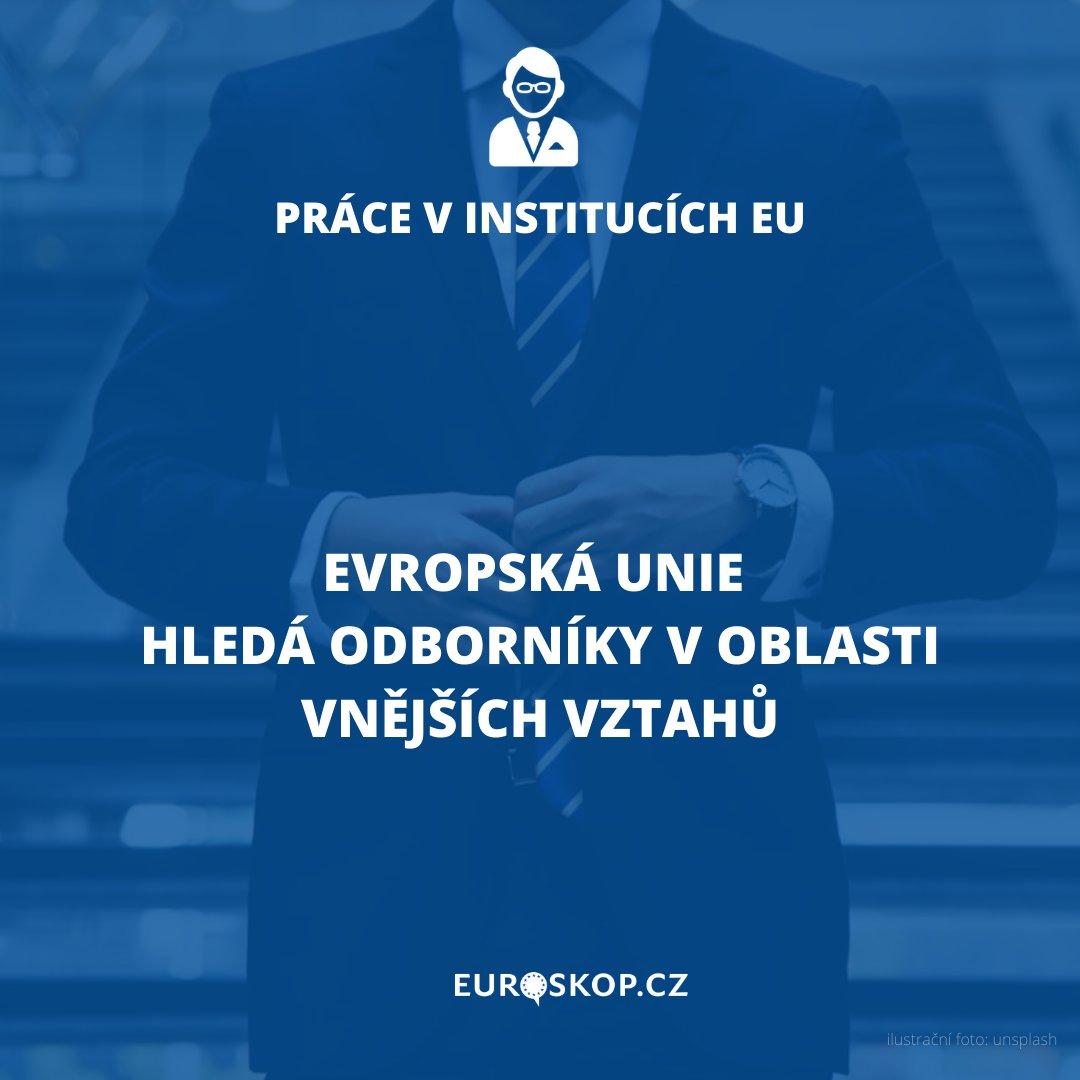 Máte specializaci v oboru vnějších vztahů? Chtěli byste se podílet na prosazování hodnot #EU ve vztazích se třetími zeměmi? Pak by vás mohla zajímat tato pracovní příležitost ➡️ https://t.co/QmdyXjCGuG #kariera #nabidka #zamestnani #pracevEU #karieravEU #Euroskop https://t.co/v87AR5UPqK