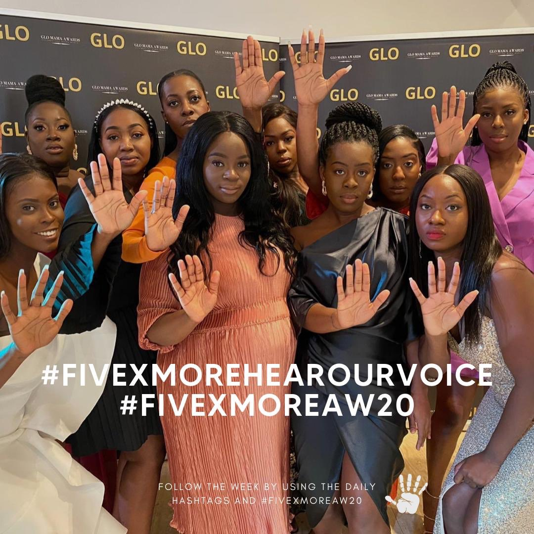 """We often hear that Black women are """"hard to reach"""". Well here we are loud and clear and we want our voices and experiences to be heard. We want to see a change and we want to see it right now.  #fivexmorehearourvoice #fivexmoreaw20 #fivexmore https://t.co/2tJwOPclzp"""