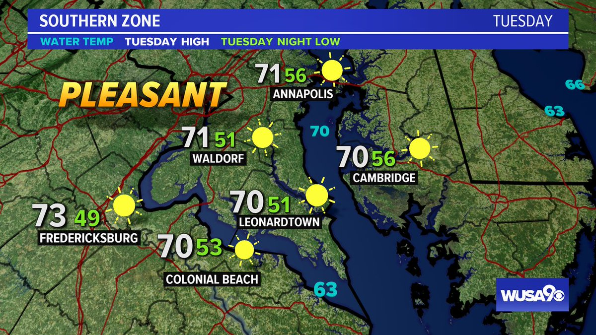 Here is your zone forecast. A nice day on the water. @SOMDWXNews @CharlesCoMD @SpotsySchools @wusa9 @HBWX @miriweather @chesterlampkin #WFH #wusa9weather #weather #DC #dcwx #vawx #mdwx #GetUpDC  https://t.co/22dBSKhDf4 https://t.co/mAVGhPUZsT