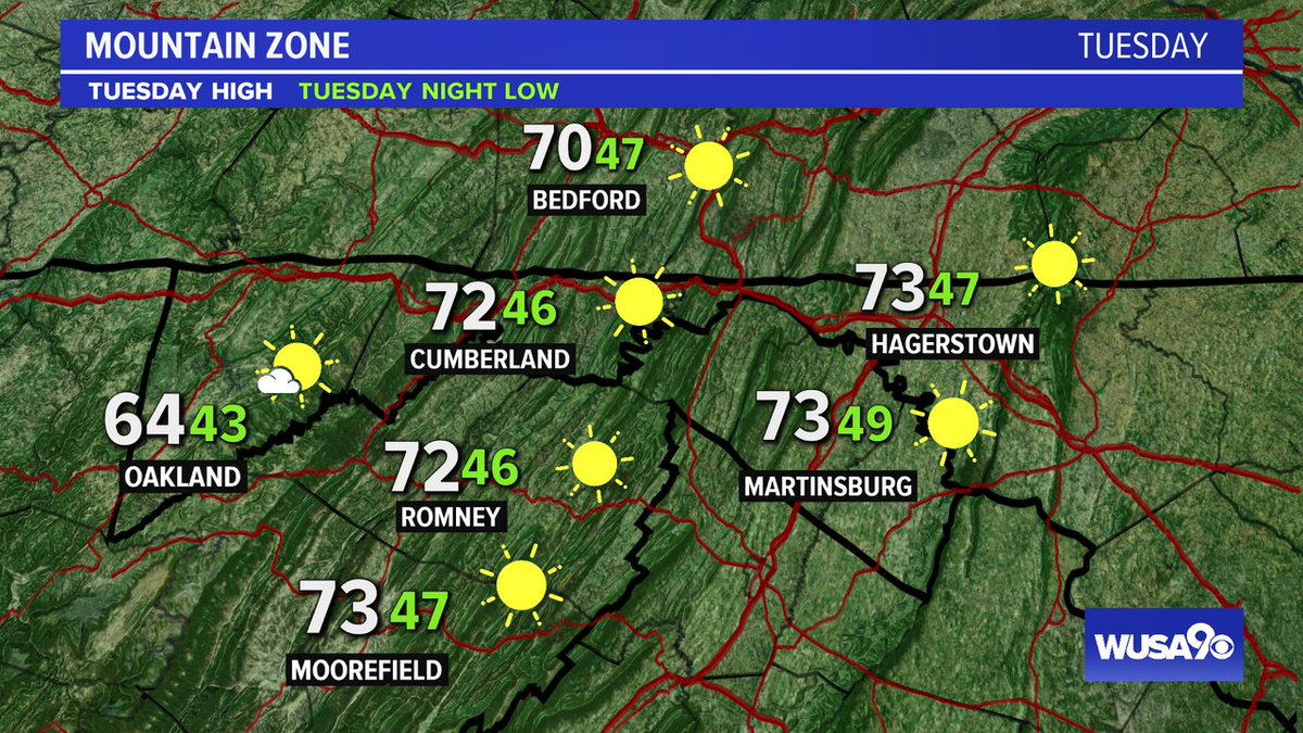 Here is your zone forecast. A great day after another cold start. @HagerstownPD @theJournalWV  @wusa9  @WISPResort @greatdaywash @HBWX @miriweather @chesterlampkin #WFH #wusa9weather #weather #DC #dcwx #vawx #mdwx #GetUpDC  https://t.co/22dBSKhDf4 https://t.co/kkc14SekTD