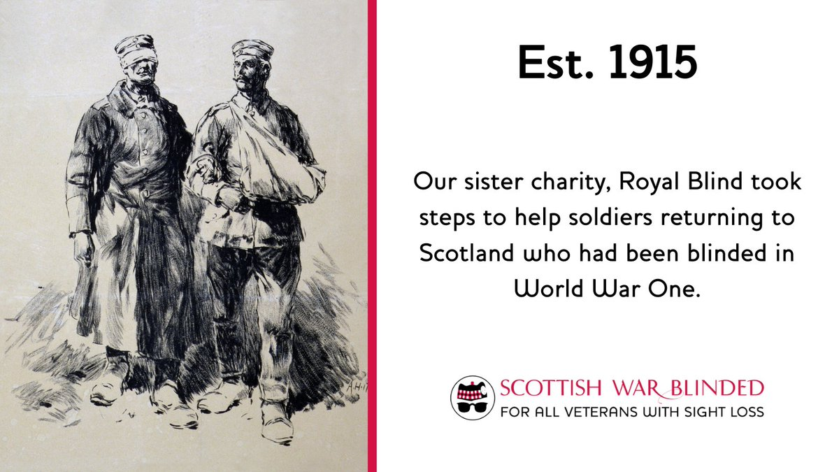 We've grown from humble beginnings as a charity providing support to blinded soldier returning from WW1. We have evolved over the past 100 years & now help blind & partially sighted veterans no matter how or when they lost their sight, including those who did National Service. https://t.co/M9h9jLeayP