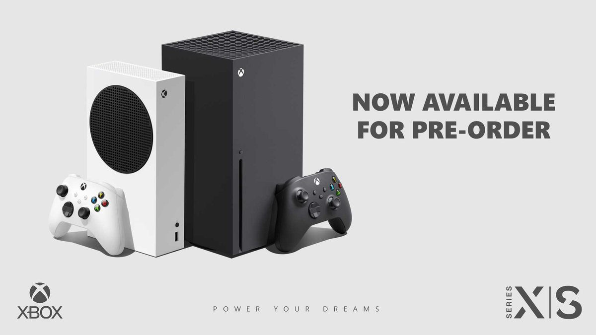 Pre-orders for the Xbox Series X | S are now live on our website and in-stores!   These consoles will go fast, but not to worry – we'll continue to notify you as we receive additional units for pre-order. https://t.co/Q5CXlLBxRt https://t.co/QeRzgHZ9gH