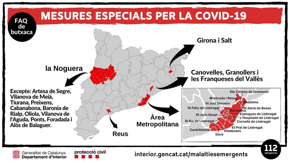 🔴 INFORMACIÓ DE SERVEI:  Mesures especials per la #COVID19  👇      👇       👇        👇        👇 https://t.co/z7HQU5yHBL
