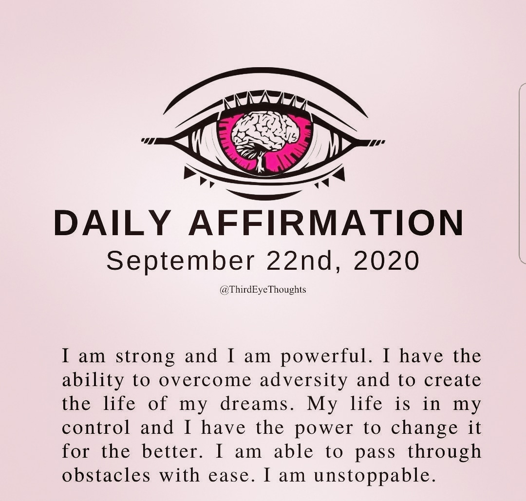 I love these daily affirmations #ThirdEye 😁👀👁 https://t.co/UPY92Pl9vY