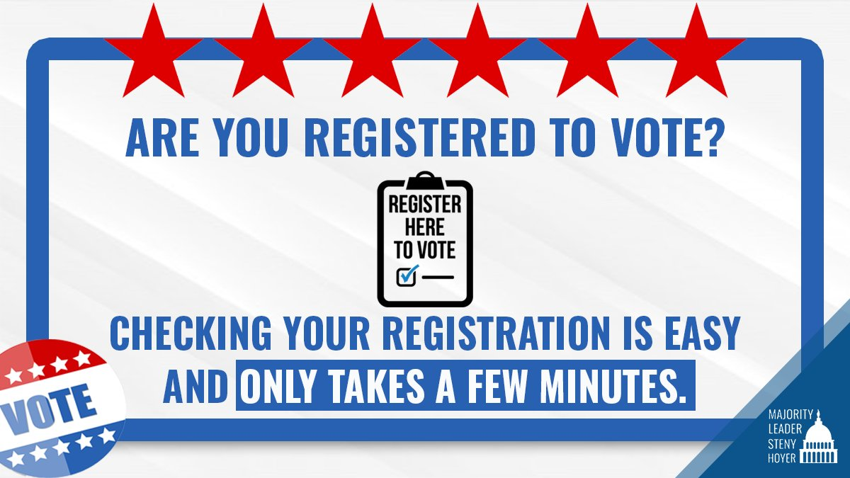 Participating in our democracy is critically important. If you're not registered to vote, #NationalVoterRegistrationDay is a great day to do it! Visit vote.gov now to get registered.