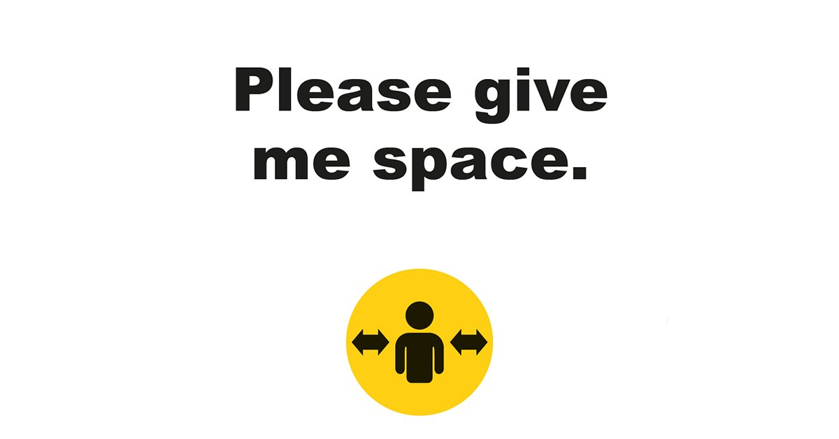 Please Give Me Space wearables were developed by RNIB and @sunflwrlanyards with support from @cabinetofficeuk. They can be used by anyone who feels they need help with social distancing.  Find out more and buy: https://t.co/mJKUtpzfaT  #PleaseGiveMeSpace https://t.co/ppaAlCcSaA