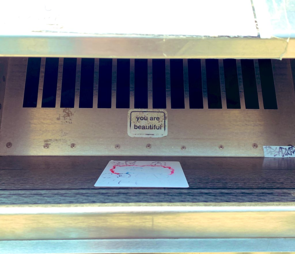 What awaits when you return books to the @chipublib Logan Square book drop #youarebeautiful https://t.co/CXpDcncl5e