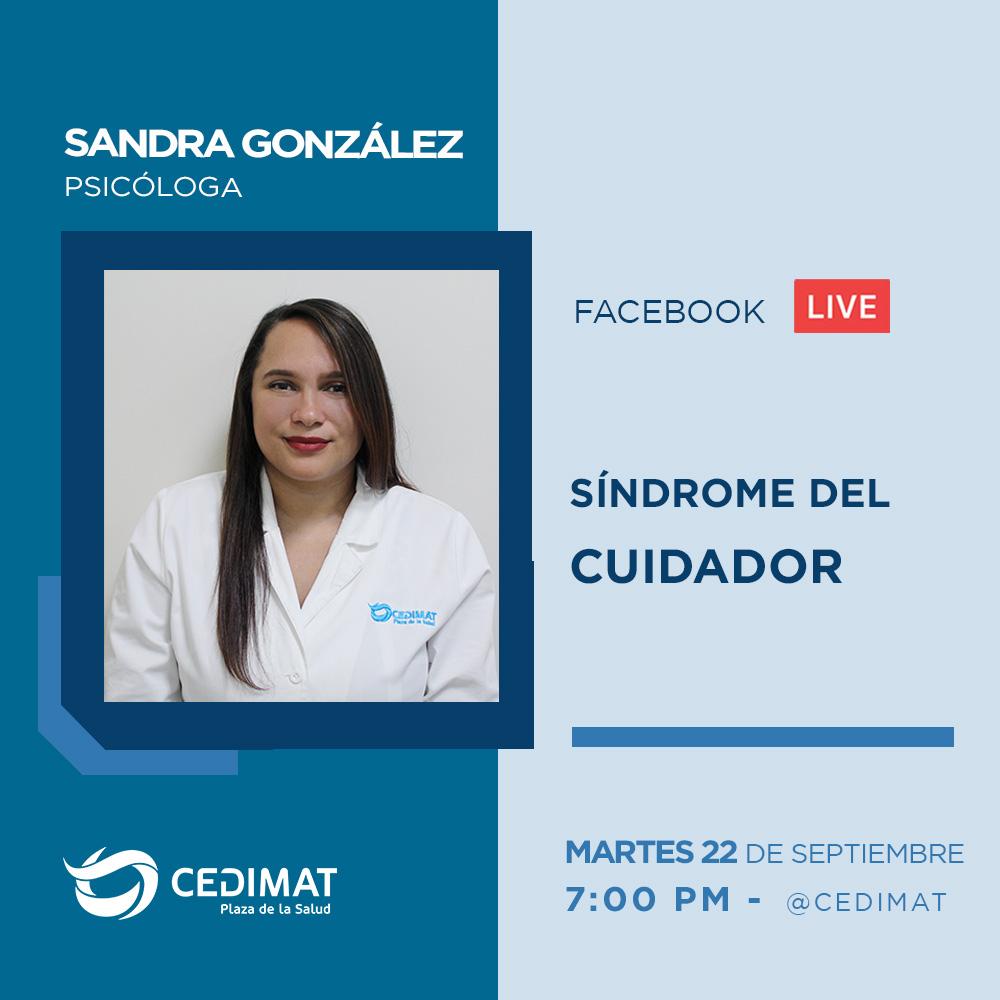 Sandra González, psicóloga de #CEDIMAT, nos hablará sobre el síndrome del cuidador.   No te lo pierdas, hoy martes 22 de septiembre a las 7:00 PM en nuestra página de Facebook.  #Live #psicologia #sindromedelcuidador #estres #desasteemocional #Bioseguridad #COVID19 #CoronavirusRD https://t.co/q7j29zYZCo