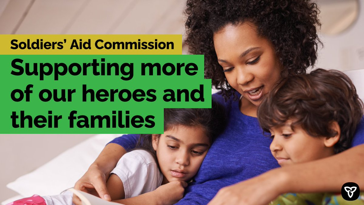 ICYMI: Ontario is modernizing and expanding the Soldiers' Aid Commission so more Ontario veterans of all ages and their families can access financial assistance if they are in need.   Find out more: https://t.co/RQZsTfN8Hn https://t.co/BuSg1cSpJi