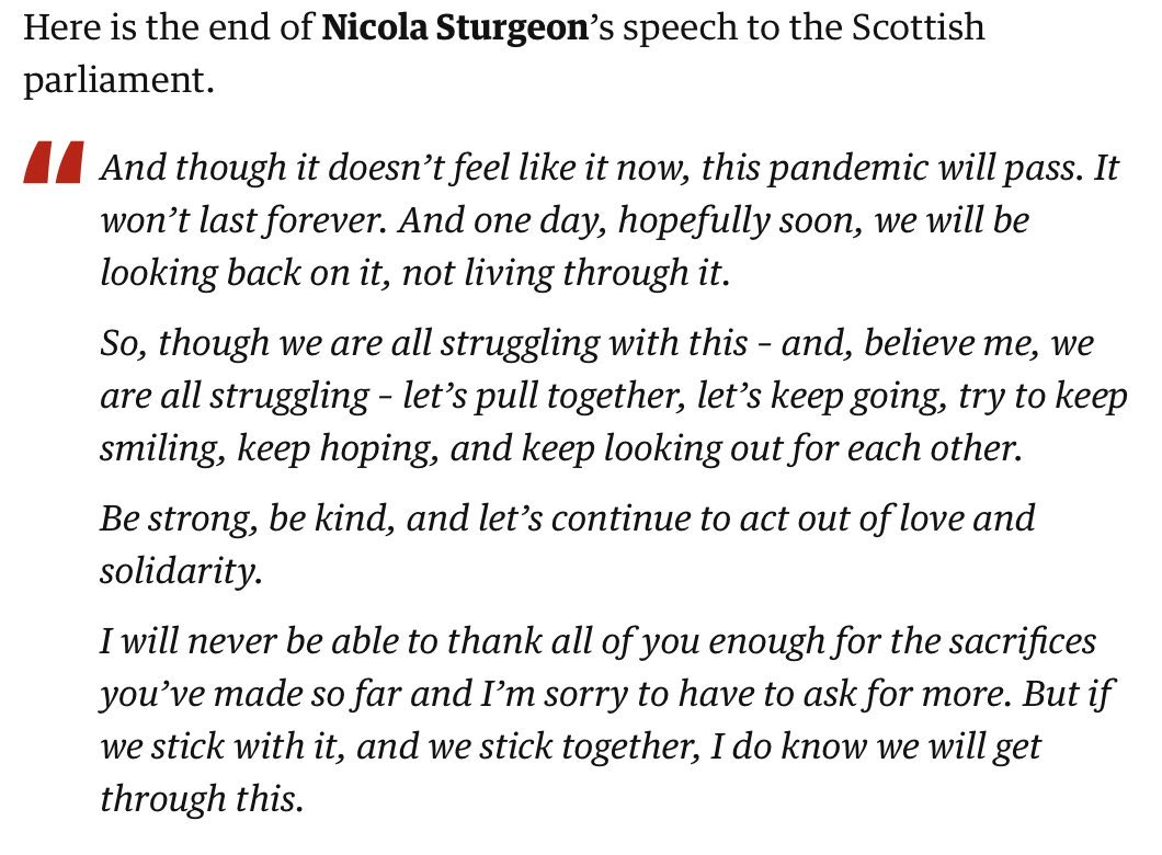 This is leadership. @NicolaSturgeon 👏👏