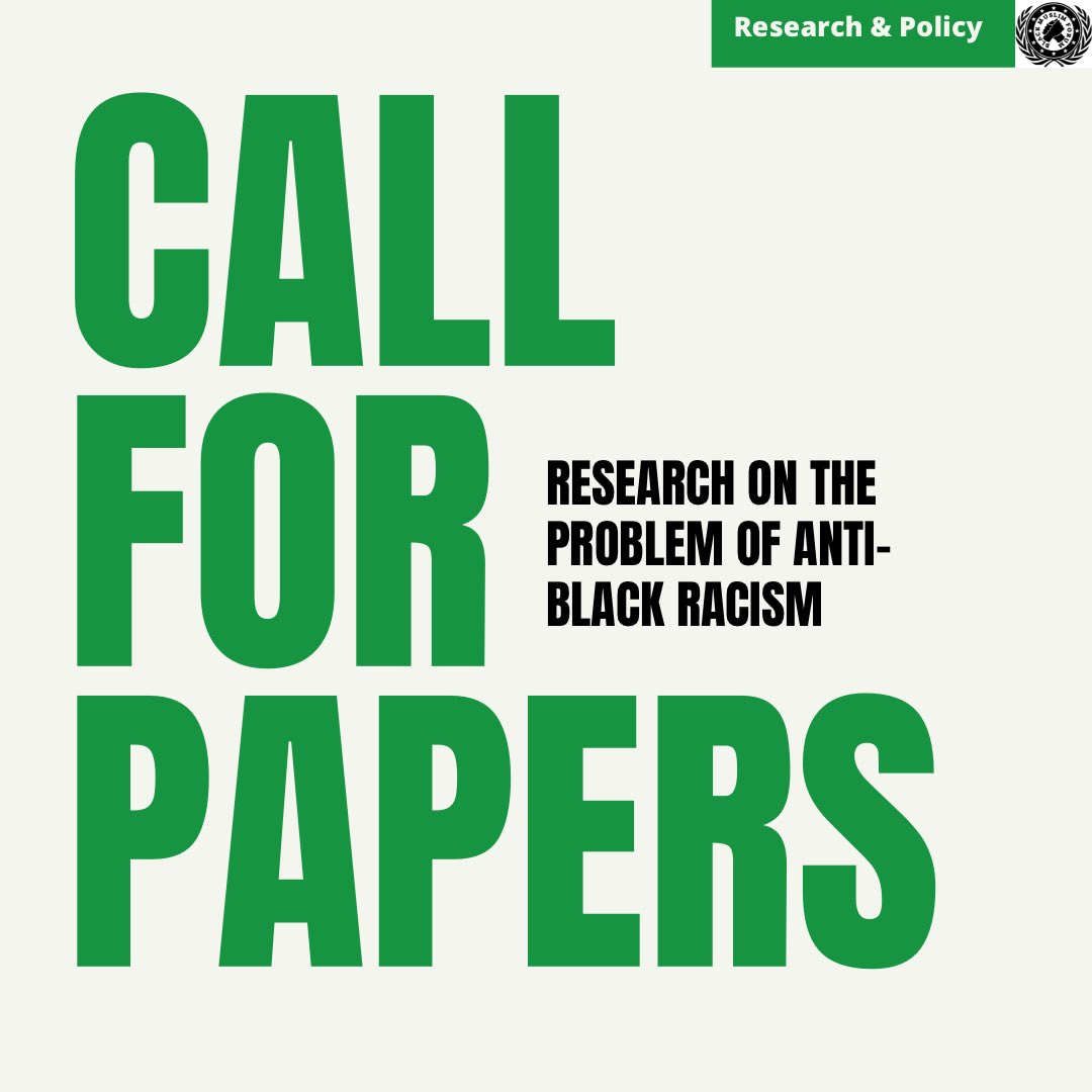 📢 CALL FOR PAPERS!   At the moment BMF is recruiting research papers.  If you would like to write a research paper you are encouraged to pick from one of the below topics or create your own relevant to anti-black racism. This would be a paper between 3000-6000 words. https://t.co/GpwQZ7qBso