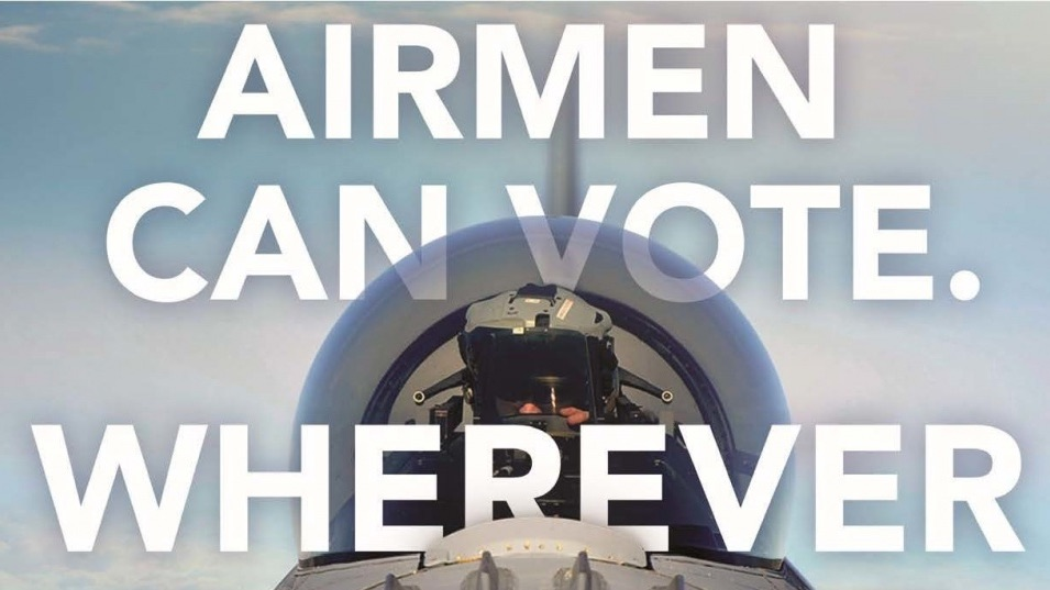 Wherever Airmen go, the Federal Voting Assistance Program ensures their voice is heard. @FVAP works to ensure service members & families are aware of their right to vote & have the tools to do so. Click the 🔗 to learn more: https://t.co/cc2v6sHkqk #NationalVoterRegistrationDay https://t.co/fSCWBKOrti
