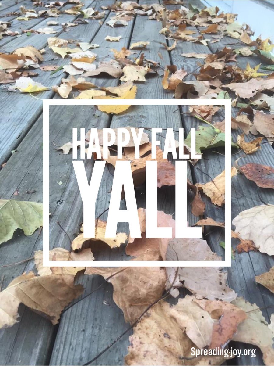 Happy Fall Y'all!!   What's your favorite thing about this season?   #findthegood #positivity #PositiveVibes https://t.co/ginCrE67Ar