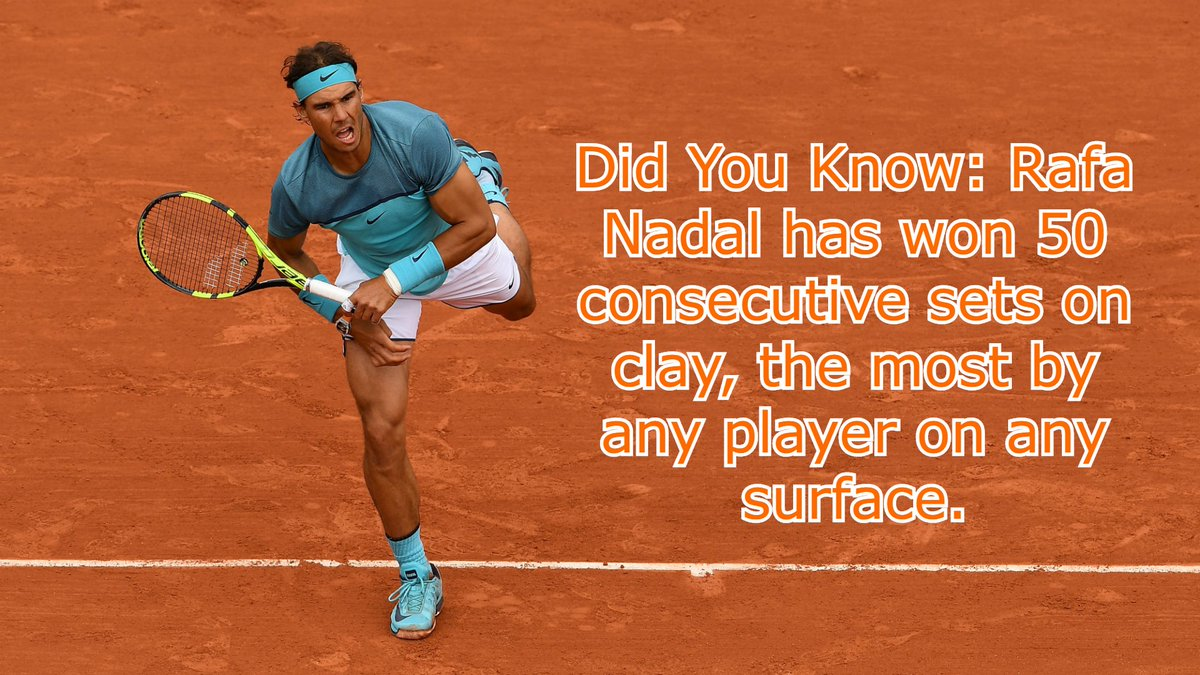 Rafael Nadal holds almost every record that is there to be held on the red dirt. But, this one is really special! #RafaelNadal #RafaNadal #RolandGarros #FrenchOpen #Nadal #SportzNirvana https://t.co/nnikaPdPXU