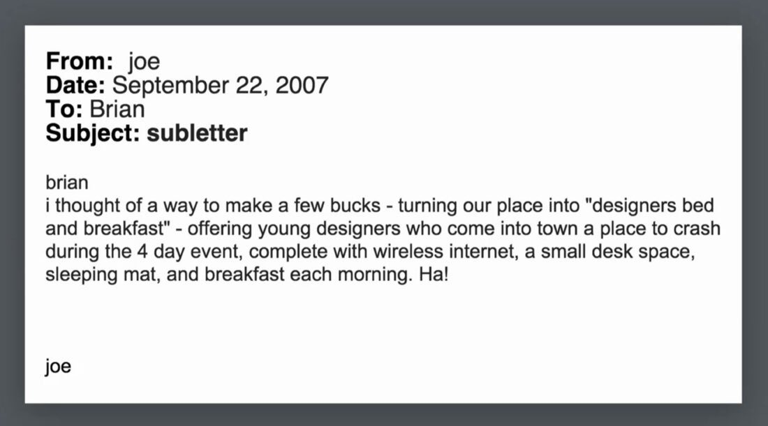 On this day in 2007: an email leads to the creation of Airbnb https://t.co/1mrPN3mWfm